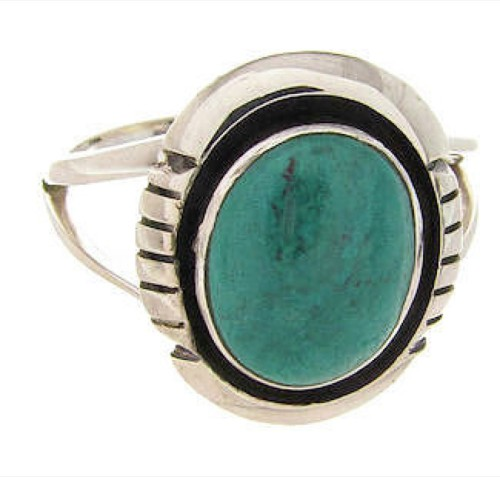Southwest Turquoise And Silver Ring Size 5-1/4 YS60582