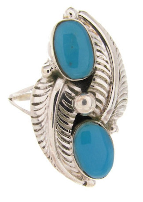 Sterling Silver Turquoise Ring Size 5-1/4 OS58727