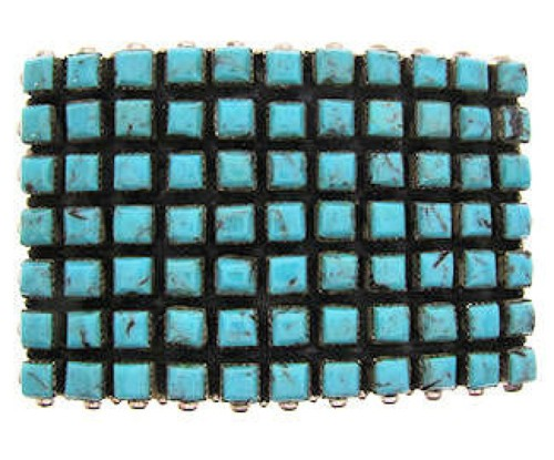 Sterling Silver Turquoise and Southwest Jewelry Belt Buckle YS59922