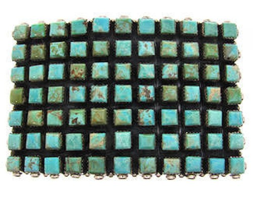 Sterling Silver Turquoise Southwestern Belt Buckle YS59932