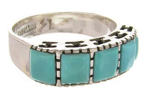 Sterling Silver Southwest Jewelry Turquoise Ring Size 5-1/4 MW64070