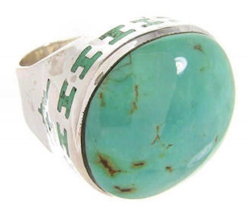 Turquoise Genuine Sterling Silver Ring Size 6-1/4 OS59941