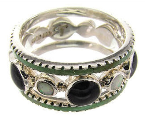 Multicolor Sterling Silver Stackable Ring Set Size 7-1/4 BW64275