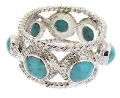 Sterling Silver Southwest Turquoise Ring Size 4-3/4 PS61529