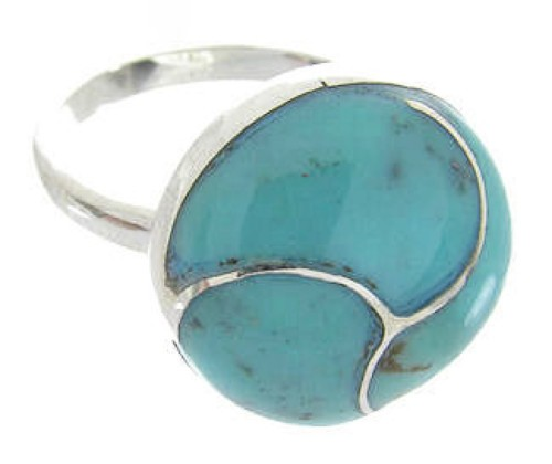 Sterling Silver Turquoise Southwestern Jewelry Ring Size 5-1/4 YS63375