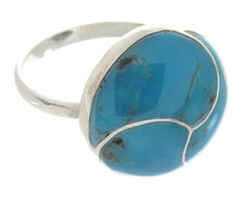 Sterling Silver Turquoise Southwest Jewelry Ring Size 6-3/4 YS63377