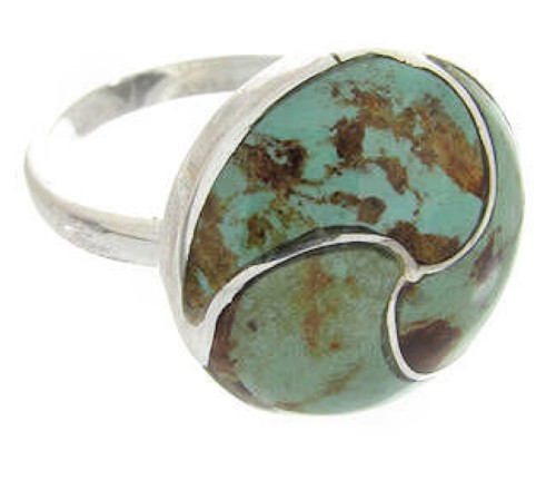 Turquoise Silver Southwest Jewelry Ring Size 5-1/2 YS63396