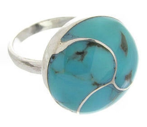 Southwest Silver And Turquoise Jewelry Ring Size 5-1/2 YS63431