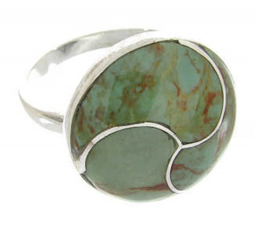 Turquoise Sterling Silver Southwest Jewelry Ring Size 5-1/4 YS63439