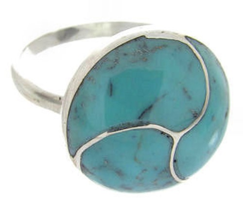 Turquoise Silver Southwest Ring Size 4-3/4 YS63480