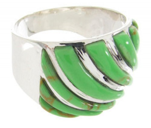 Gaspeite Silver Jewelry Southwest Ring Size 6-1/4 YS61552