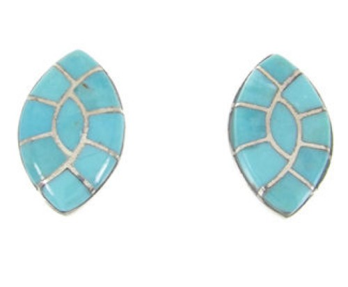 Authentic Sterling Silver And Turquoise Jewelry Post Earrings RS46435