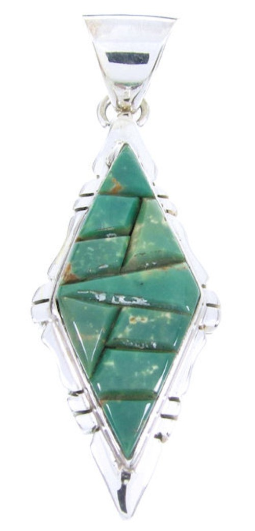 Genuine Silver And Turquoise Pendant JW66391