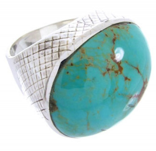 Turquoise Jewelry Silver Southwest Ring Size 4-3/4 MW66737