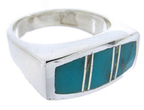 Southwest Sterling Silver Turquoise Opal Ring Size 7-3/4 IS68180