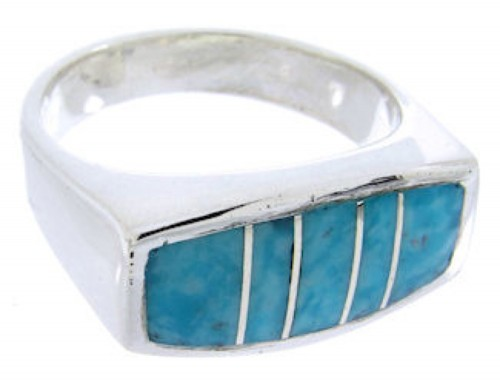 Sterling Silver Jewelry Southwest Turquoise Ring Size 4-1/2 IS68253