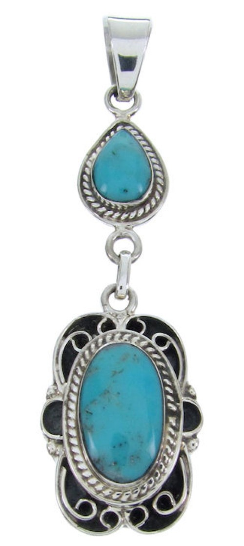 Turquoise Genuine Sterling Silver Pendant BW69988