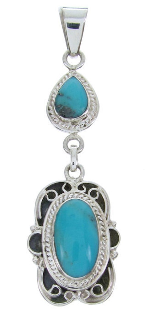 Southwest Turquoise Jewelry Sterling Silver Pendant BW69990