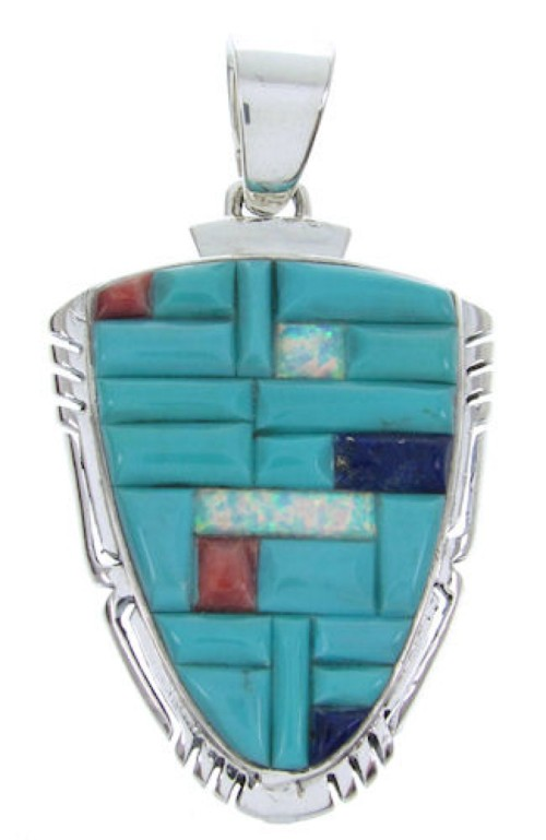 Multicolor And Genuine Sterling Silver Pendant BW70239