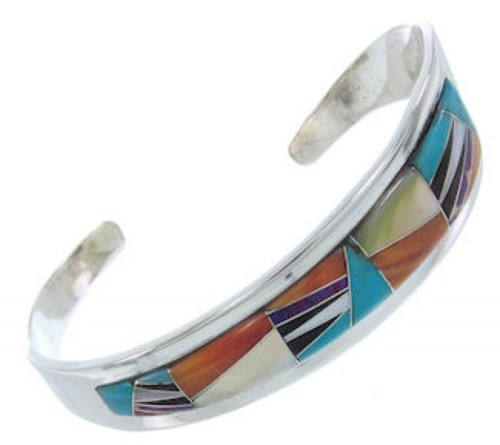 Oyster Shell Turquoise Multicolor Silver Jewelry Cuff Bracelet AW70320