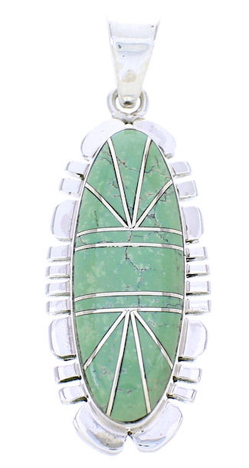 Turquoise Inlay Jewelry Sterling Silver Pendant BW71007