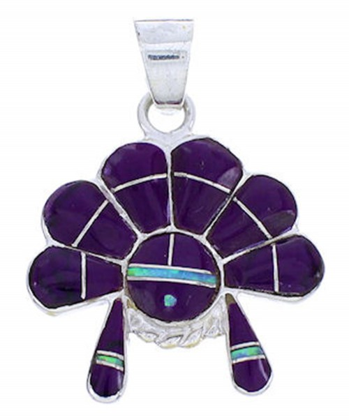 Sugilite And Blue Opal Chief Headdress Pendant YS70817