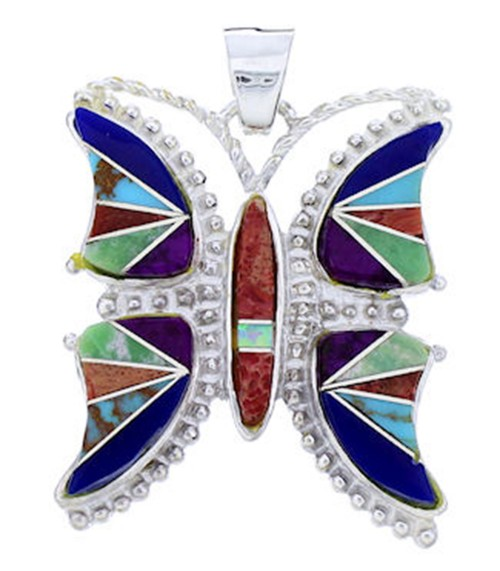 Multicolor Inlay Butterfly Jewelry Pendant YS70918