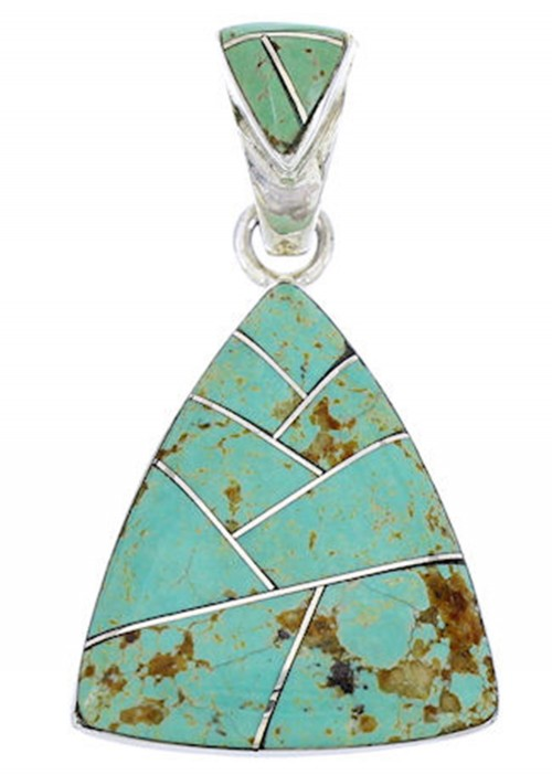 Turquoise Sterling Silver Southwest Pendant DW71610