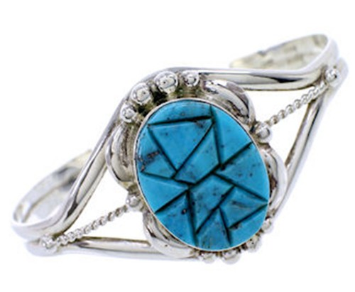 Silver Southwest Turquoise Bracelet Cuff Jewelry BW70911