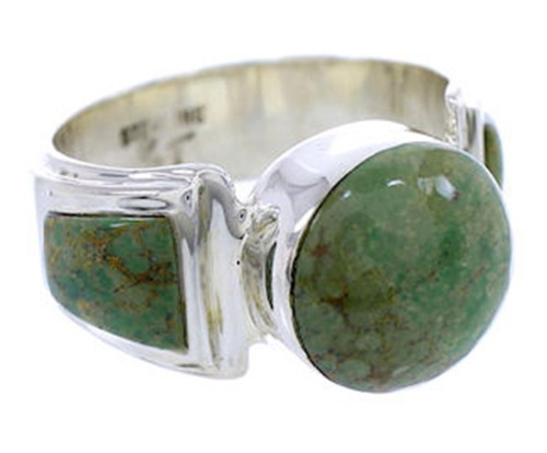 Turquoise Jewelry Southwestern Silver Ring Size 8-1/2 BW71062