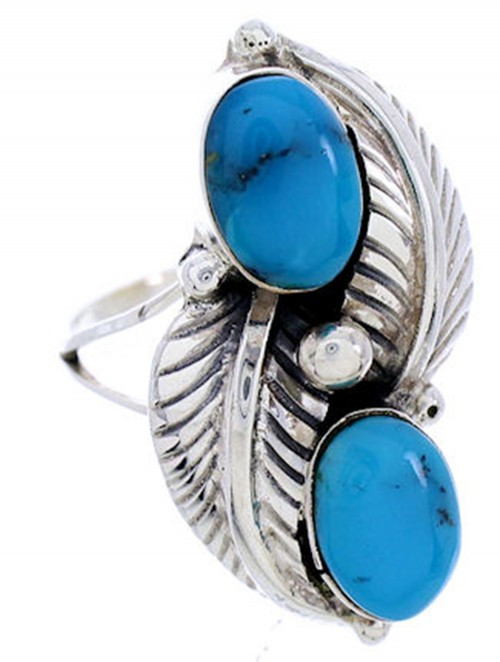 Turquoise Genuine Sterling Silver Jewelry Ring Size 5-1/4 AW71933