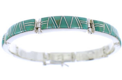 Turquoise Jewelry Southwest Sterling Silver Link Bracelet YS71555