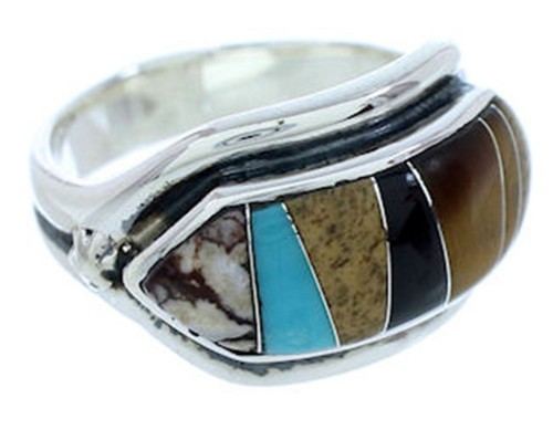 Multicolor Jewelry Sterling Silver Ring Size 7-1/4 YS72497