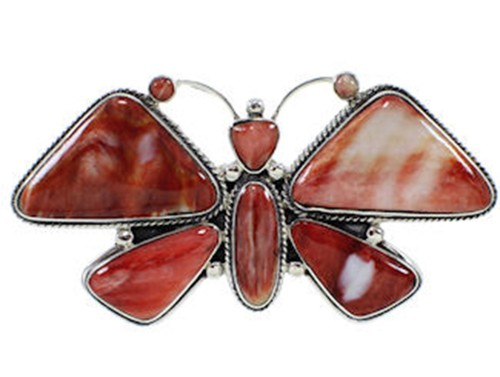 Large Statement Red Oyster Shell Butterfly Ring Size 10-1/4 PS72876