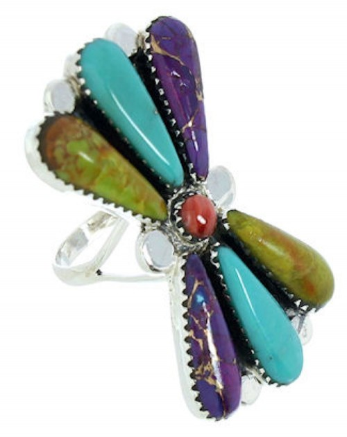 Southwestern Large Statement Piece Multicolor Ring Size 6-1/2 BW74473