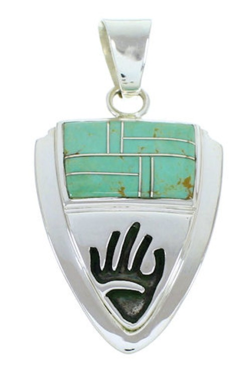 Southwest Hand Turquoise Jewelry Sterling Silver Pendant YS73193