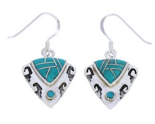 Silver Jewelry Turquoise Southwest Earrings GS75839