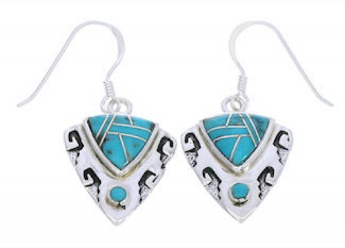 Turquoise Silver Jewelry Southwest Earrings GS75840