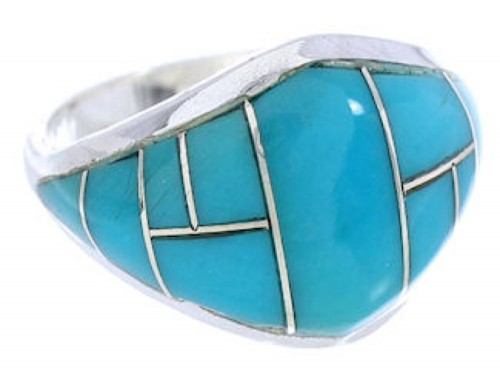 Sterling Silver And Turquoise Ring Size 6 GS74047