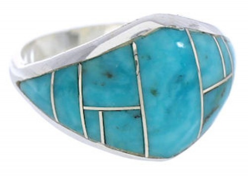 Sterling Silver Southwest Turquoise Jewelry Ring Size 7-1/4 GS74061