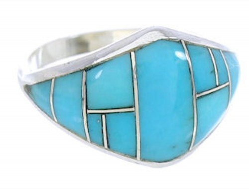 Turquoise And Silver Ring Size 5-3/4 GS74072