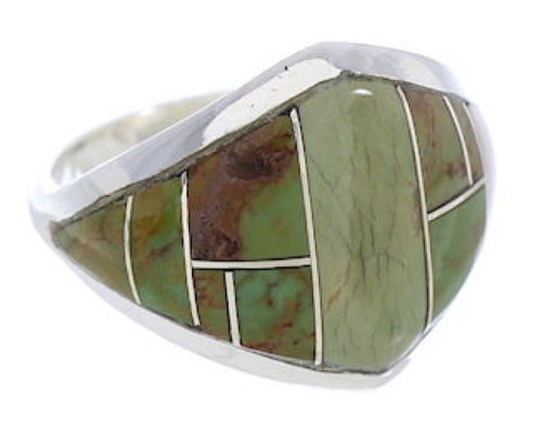 Sterling Silver Turquoise Jewelry Southwest Ring Size 4-3/4 GS74190
