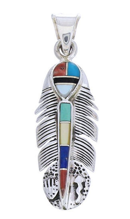 Multicolor Hand And Feather Pendant Jewelry GS73496