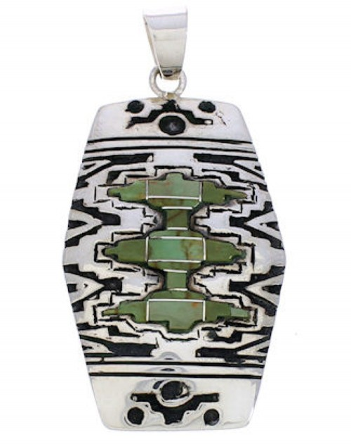 Sterling Silver Turquoise Jewelry Southwestern Pendant MW75162
