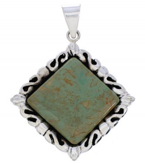 Turquoise Sterling Silver Southwest Pendant GS75174