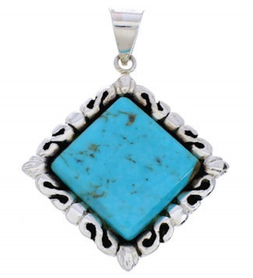 Sterling Silver Turquoise Pendant GS75180