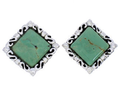Turquoise Sterling Silver Jewelry Post Earrings GS75022