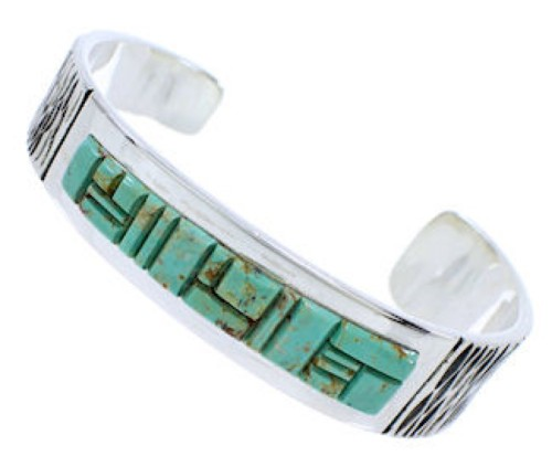 Sterling Silver Turquoise Southwest Jewelry Cuff Bracelet EX27813