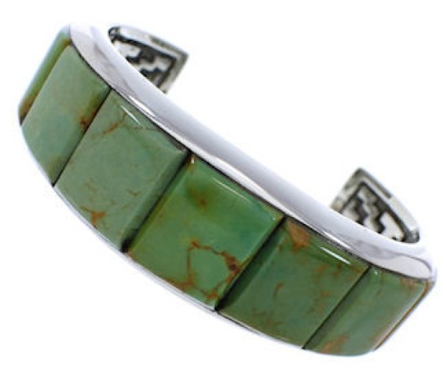 Turquoise Silver Jewelry Southwest Cuff Bracelet GS76363