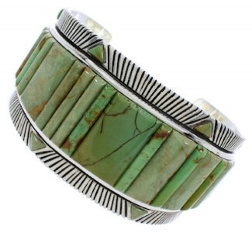 Silver Turquoise Southwest Cuff Bracelet Jewelry FX27375